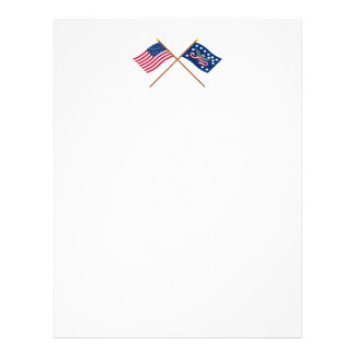 Crossed US and Whiskey Rebellion Flags Letterhead