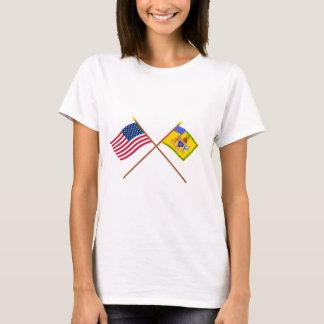 Crossed US Flag & Philadelphia Light Horse Colour T-Shirt