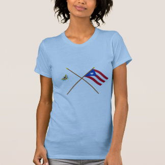 Crossed US Virgin Islands & Puerto Rico Flags T-shirts