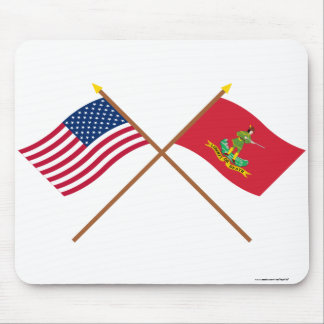 Crossed USA and Hanover Associators Flags Mousepads