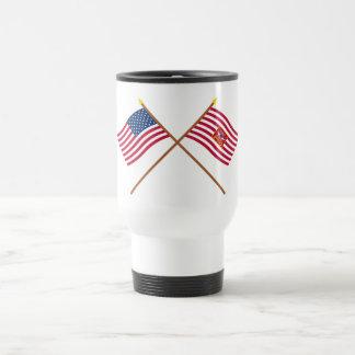 Crossed USA and Sheldon's Horse Flags Mugs