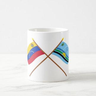 Crossed Venezuela and Monagas Flags Coffee Mug