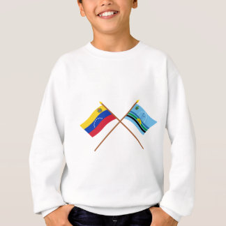 Crossed Venezuela and Monagas Flags Sweatshirt