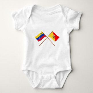 Crossed Venezuela and Sicily Flags Tee Shirt