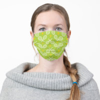 Crossed white tennis rackets cloth face mask