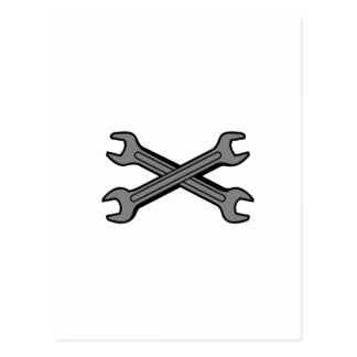 CROSSED WRENCHES POSTCARD