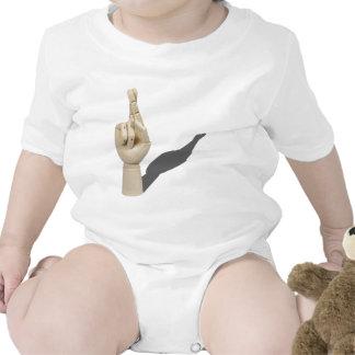 CrossedFingers120710 Baby Bodysuit
