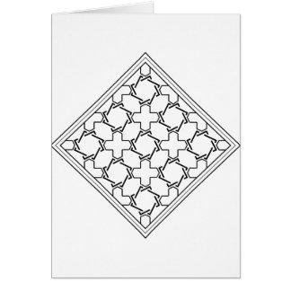 crosses and crowns tessellation 2 card
