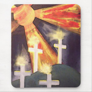 Crosses And Sun Mouse Pad