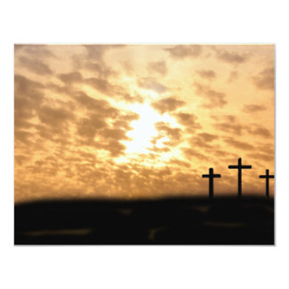 Crosses on a Hill Customizable Invitation