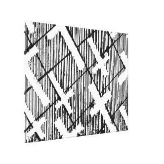 Crosses Pattern Original Art Goth Canvas Print