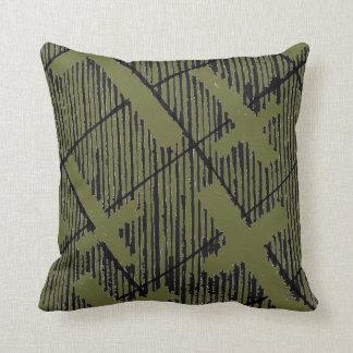 Crosses Pattern Original Art Goth Pillow Green