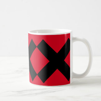 Crosses ..with your own background color. classic white coffee mug