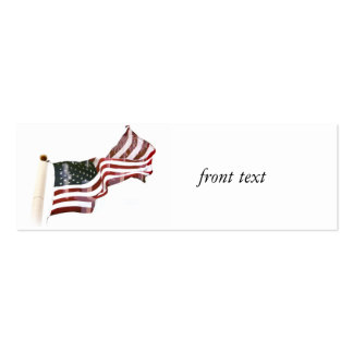 Crosses Within Old Glory - Memorial Day Double-Sided Mini Business Cards (Pack Of 20)