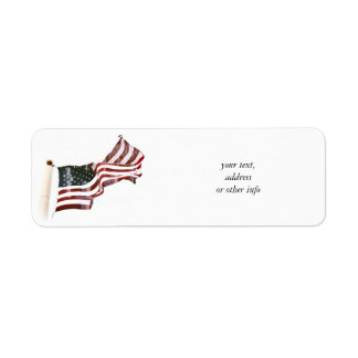 Crosses Within Old Glory - Memorial Day Label