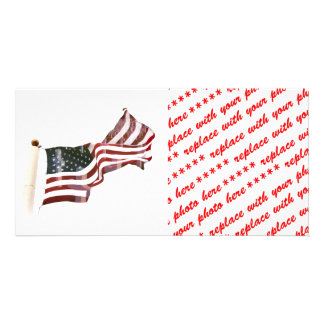 Crosses Within Old Glory - Memorial Day Photo Card