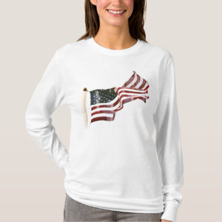 Crosses Within Old Glory - Memorial Day T-Shirt