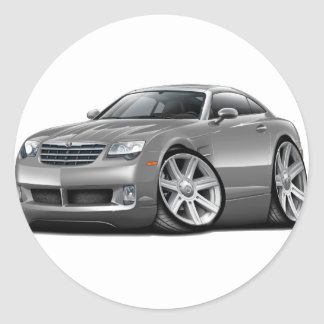 Crossfire Grey Car Classic Round Sticker