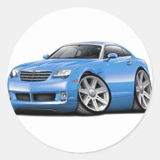 Crossfire Lt Blue Car Classic Round Sticker