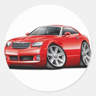 Crossfire Red Car Classic Round Sticker