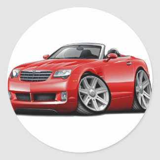 Crossfire Red Convertible Classic Round Sticker