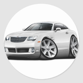 Crossfire White Car Classic Round Sticker