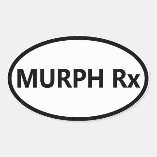 Crossfit Oval Bumper Sticker - Murph