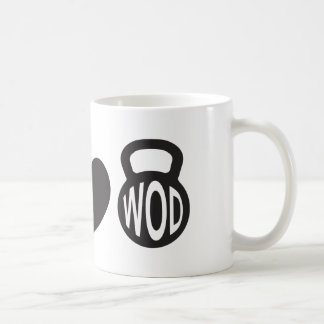 """CrossFit """"Peace, Love, & WOD"""" Mug"""