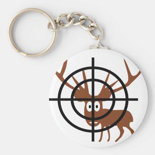 Crosshair Deer Keychains