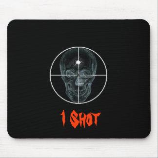 Crosshair Skull 2, 1 Shot Mouse Pad
