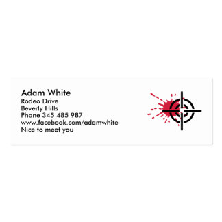 Crosshairs blood Double-Sided mini business cards (Pack of 20)