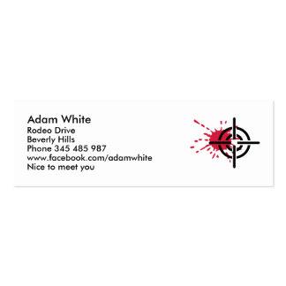Crosshairs blood mini business card