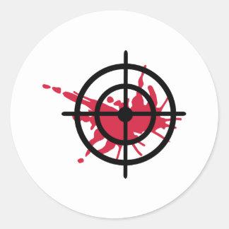 Crosshairs blood round stickers