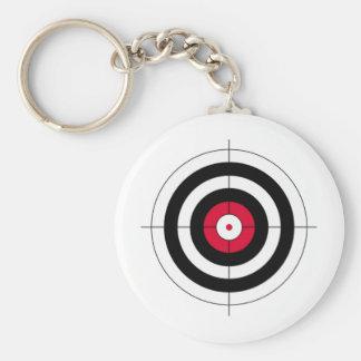 Crosshairs BullsEYE Target Basic Round Button Keychain