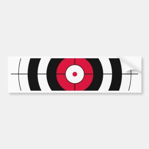 Crosshairs BullsEYE Target Car Bumper Sticker