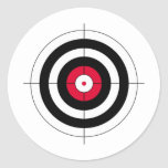 Crosshairs BullsEYE Target Classic Round Sticker