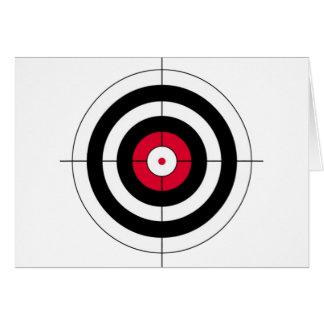 Crosshairs BullsEYE Target Greeting Card