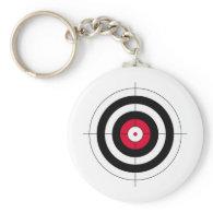 Crosshairs BullsEYE Target Key Chain