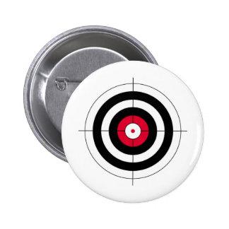 Crosshairs BullsEYE Target Pinback Button