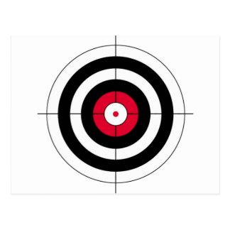 Crosshairs BullsEYE Target Postcard
