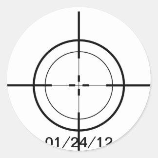 Crosshairs Classic Round Sticker