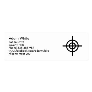 Crosshairs Double-Sided Mini Business Cards (Pack Of 20)