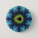 Crosshairs - Fractal Pinback Button