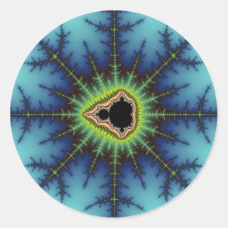 Crosshairs - Fractal Round Stickers