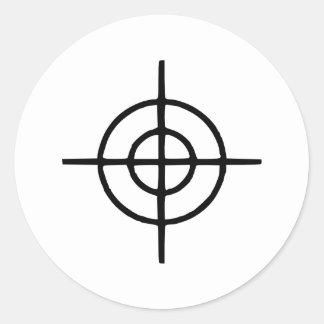 Crosshairs - Gun Classic Round Sticker