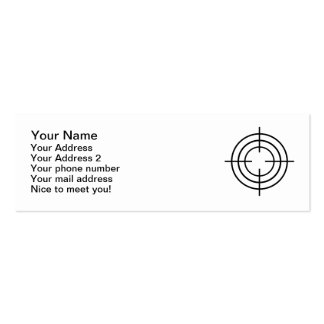 Crosshairs gun Double-Sided mini business cards (Pack of 20)