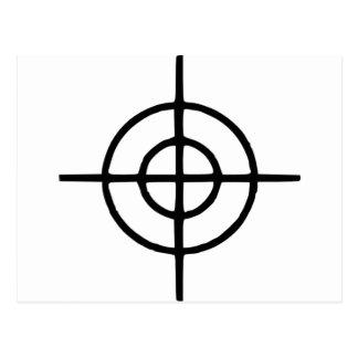 Crosshairs - Gun Postcard
