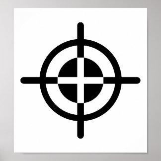 Crosshairs gun poster