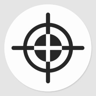 Crosshairs gun round sticker