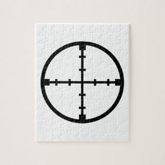 Crosshairs shooting jigsaw puzzle